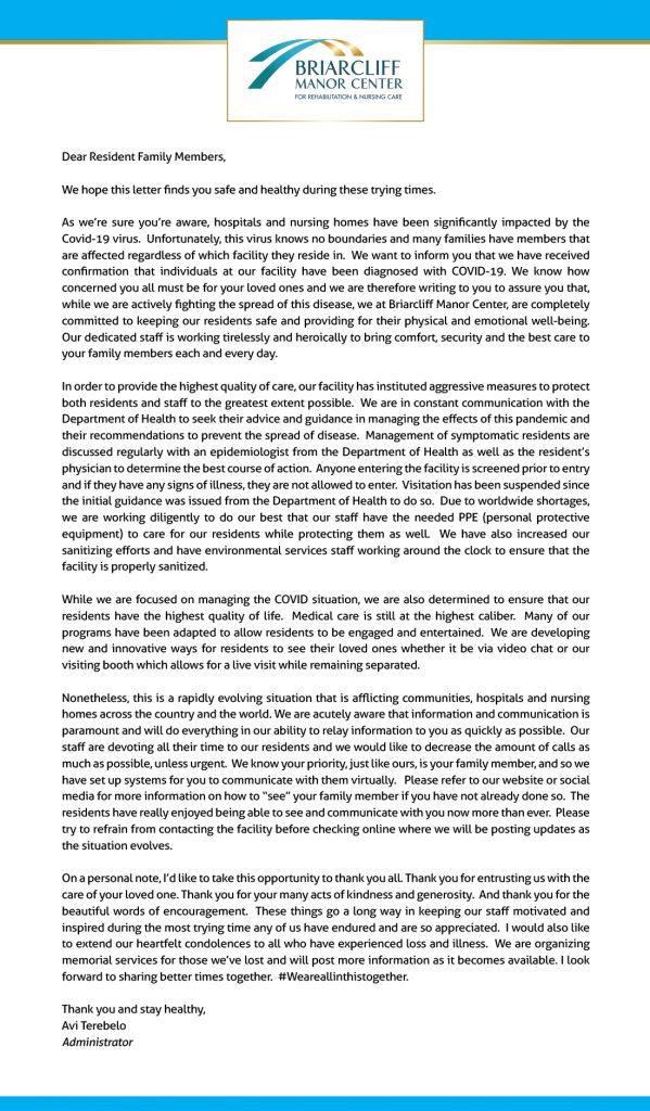 BMC COVID-19 Letter